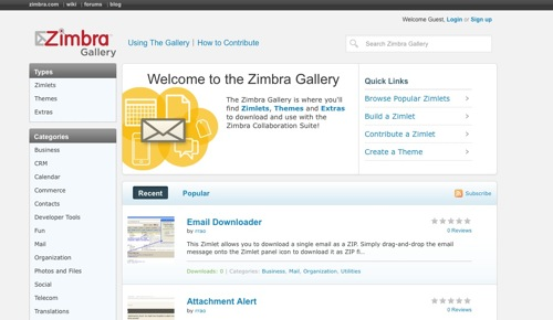 Zimbra Gallery